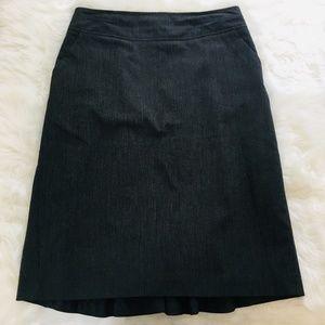 Worthington Pinstripe Charcoal Pencil Skirt Sz 14